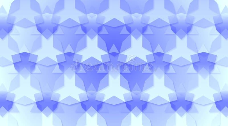 Blå trianglar och sexhörningsbakgrundstextur royaltyfria bilder