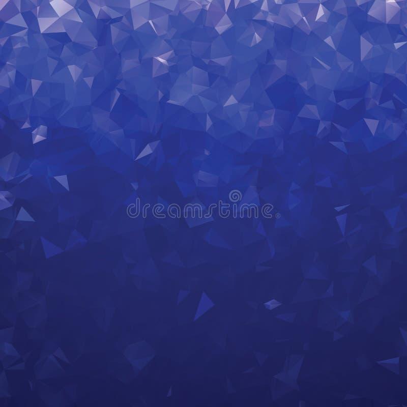 Blå triangulär abstrakt polygon royaltyfri illustrationer