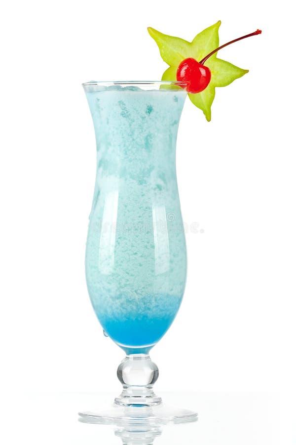 blå tropisk coctailkokosnötkräm fotografering för bildbyråer