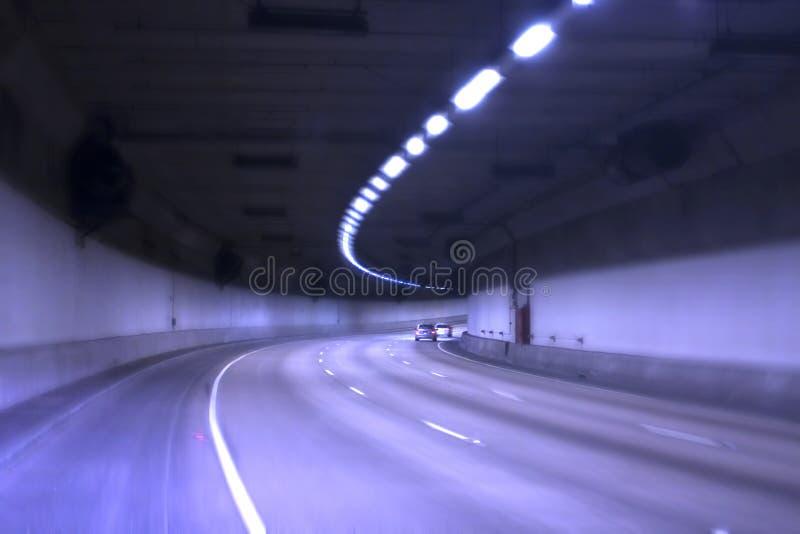 blå tunnel royaltyfri fotografi