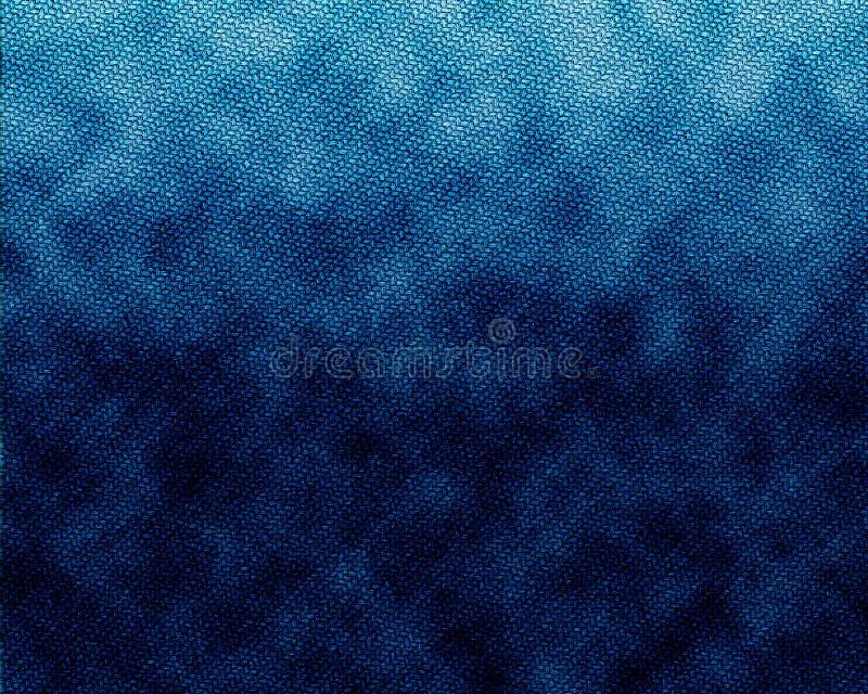 blå tygjeanstextur royaltyfri illustrationer