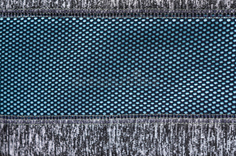 Blå tygtextur som bakgrund arkivfoton