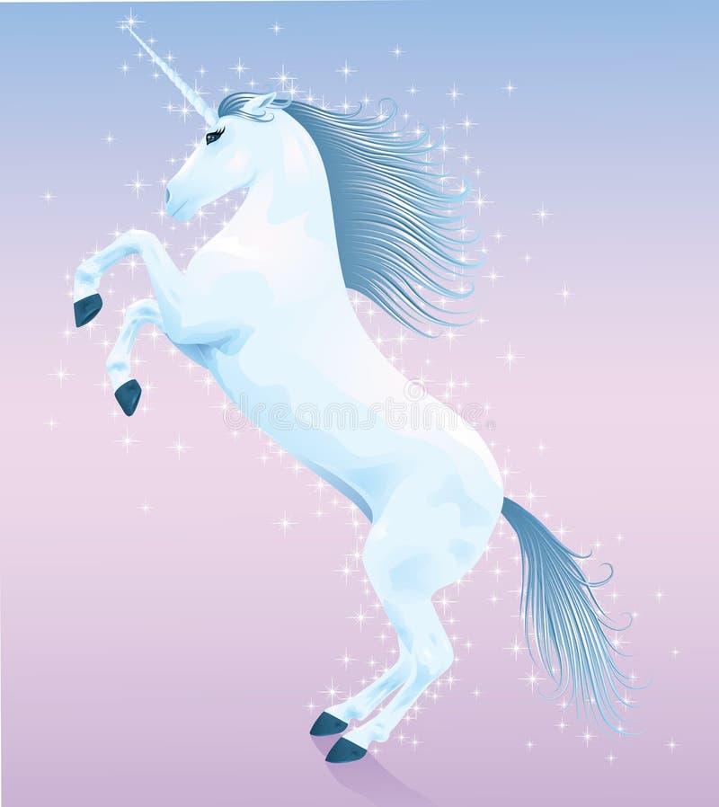 blå unicorn stock illustrationer