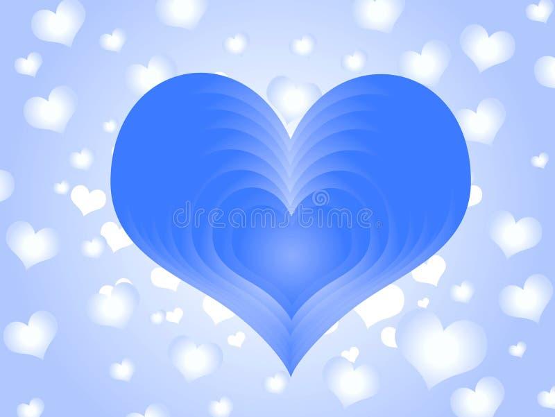 blå vän royaltyfri illustrationer