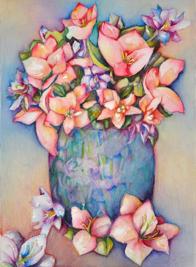 blå vase royaltyfria bilder