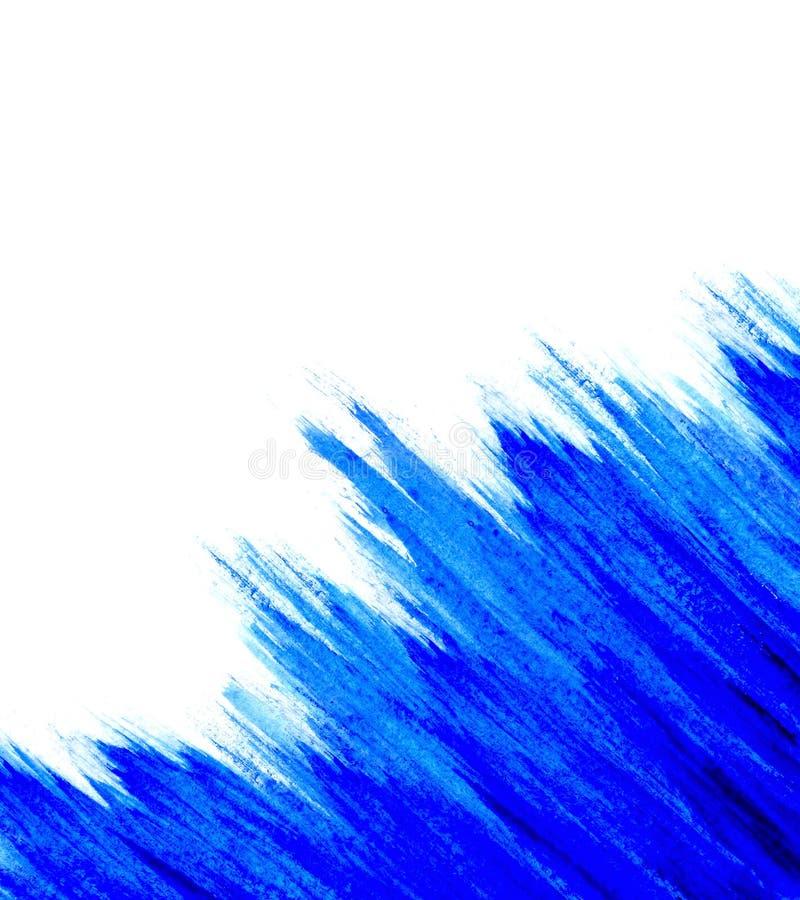 blå vattenfärg arkivbild