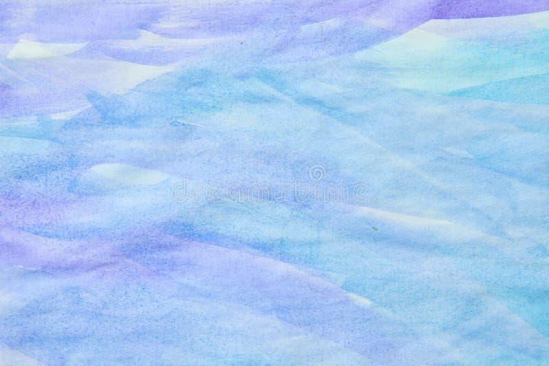 Blå vattenfärgbakgrund för lilor royaltyfri bild