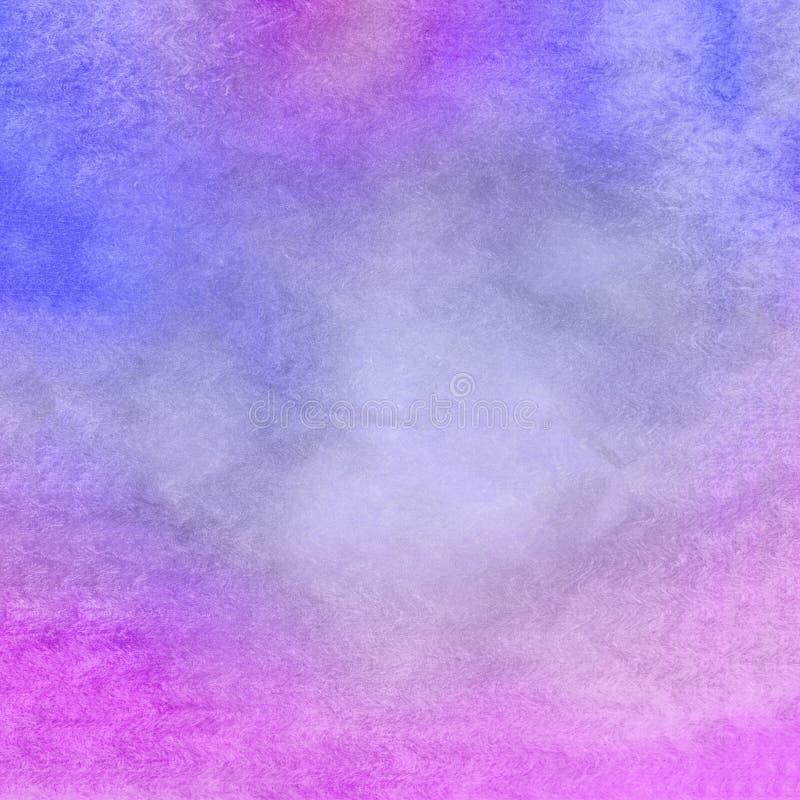 Blå vattenfärgbakgrundstextur stock illustrationer