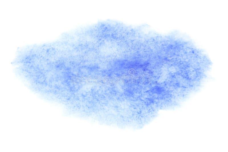 Blå vattenfärgborsteslaglängd royaltyfri bild