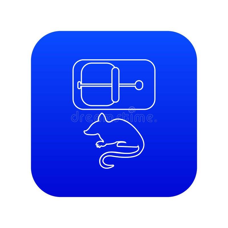 Blå vektor för råttfällasymbol royaltyfri illustrationer
