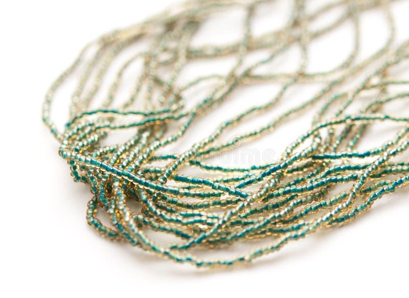 Blå Venetian halsband för glass pärlor royaltyfri bild