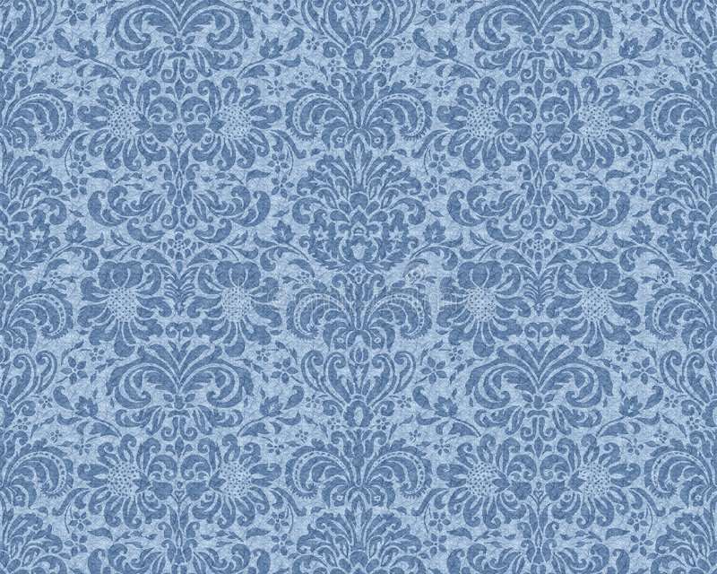 blå victorianwallpaper
