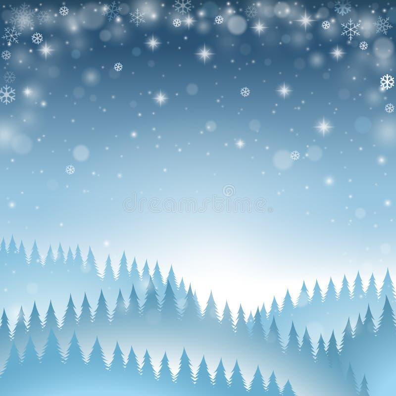 blå vinter för bakgrund stock illustrationer