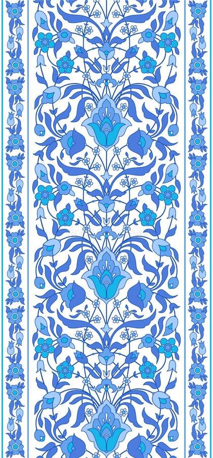 Blå vit islamisk prydnad för ans vektor illustrationer