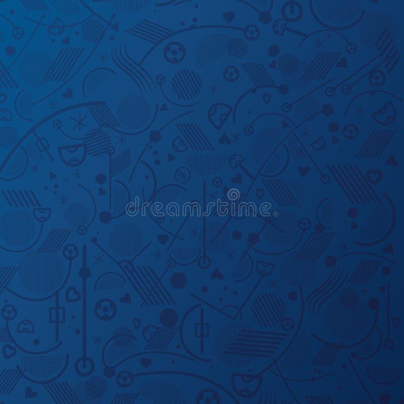 blå wallpaper royaltyfri illustrationer