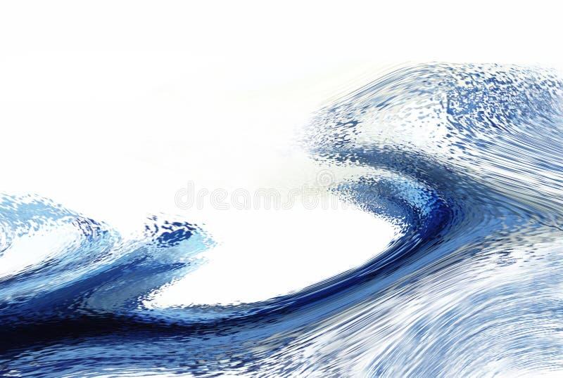 blå wave stock illustrationer