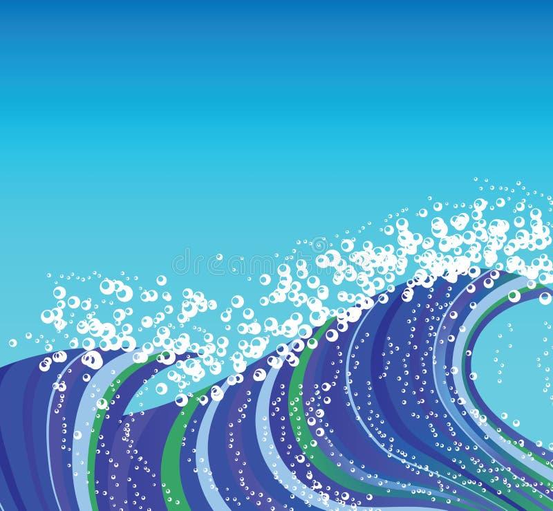 blå wave vektor illustrationer