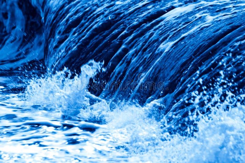 blå wave royaltyfri foto