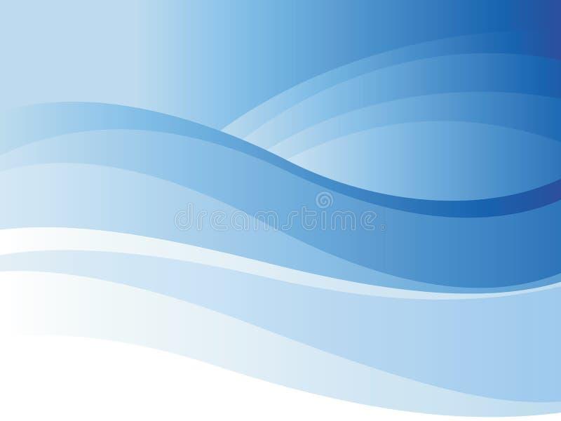 blå wave för bakgrund royaltyfri illustrationer