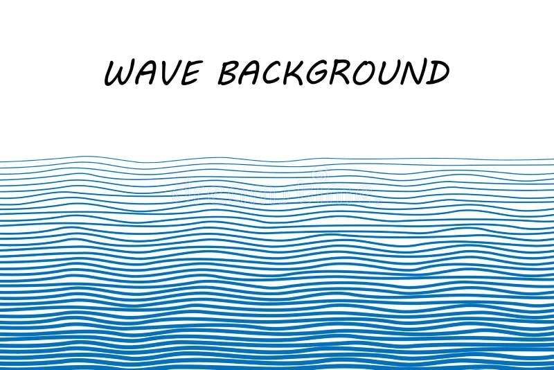 blå wave för bakgrund stock illustrationer