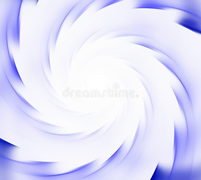 blå white för abstrakt bakgrund Spirala strålar av sunflare royaltyfri illustrationer