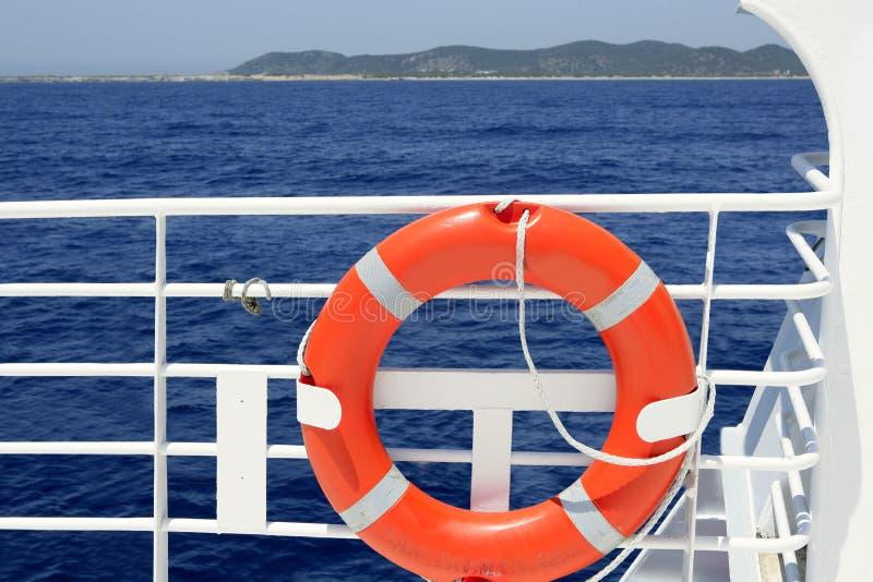 blå white för hav för handrail för fartygkryssningdetalj fotografering för bildbyråer