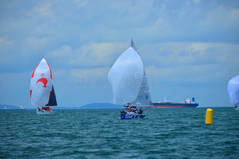 Blå wonderfull Indonesien för Ocean7 Batam arkivfoto