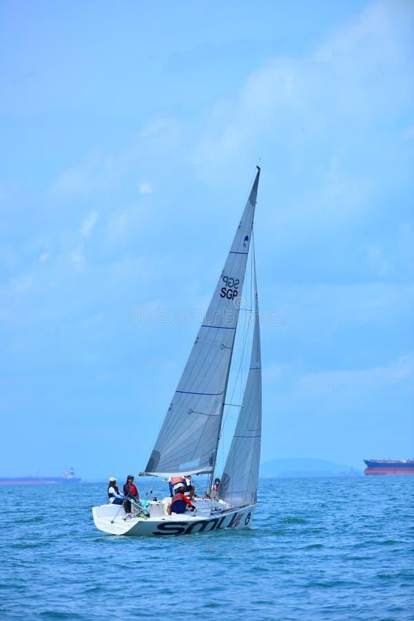 Blå wonderfull Indonesien för Ocean9 Batam arkivfoton