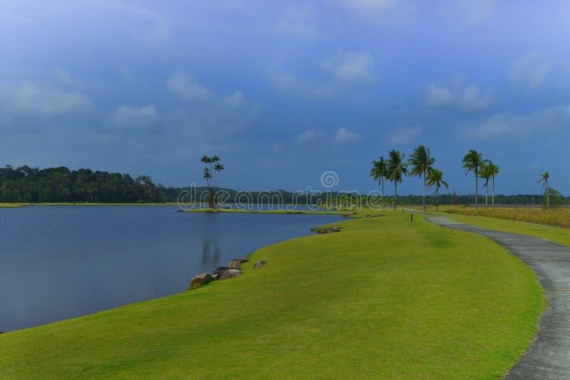Blå wonderfull Indonesien för Sky8 Batam Bintan arkivfoton