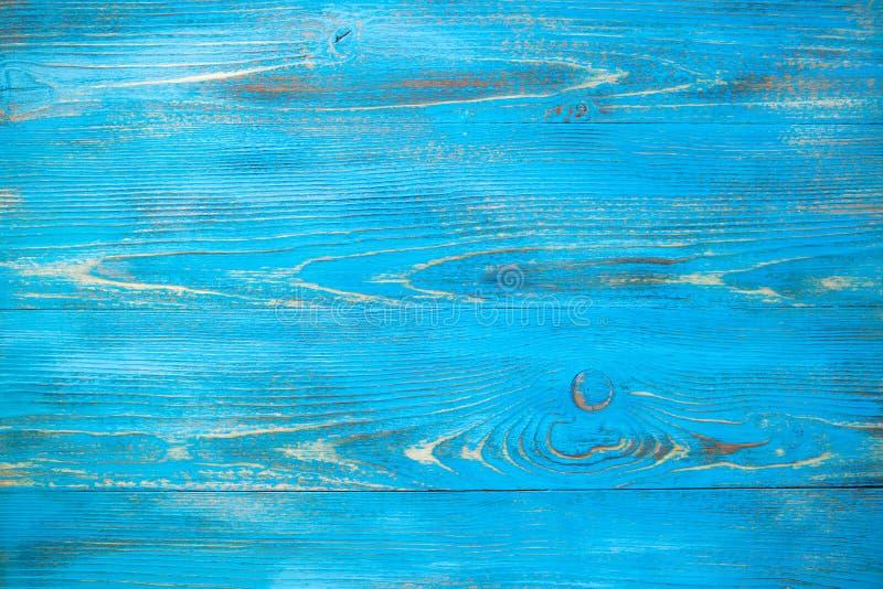 Blå wood bakgrundstextur för tappning med naturliga modeller fotografering för bildbyråer