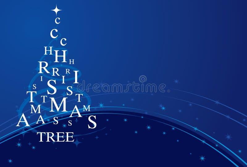 Blå Xmas-tree arkivfoto