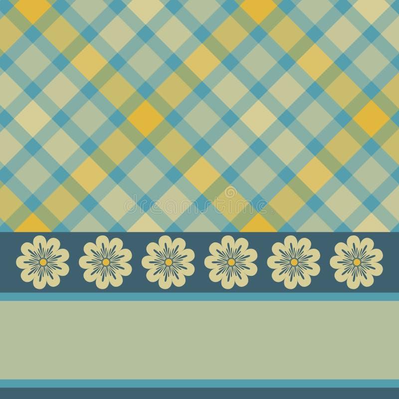 blå yellow för kortblommapläd stock illustrationer