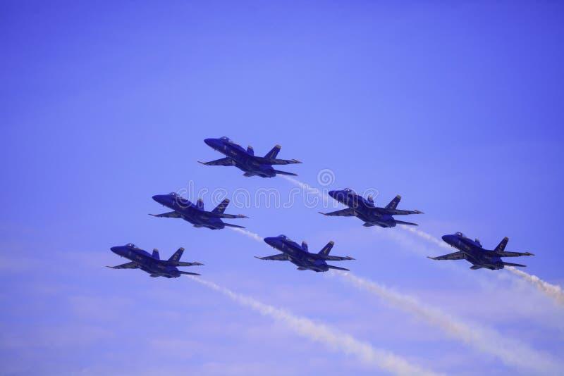 Blåa änglar på Kaneohe Airshow royaltyfri bild