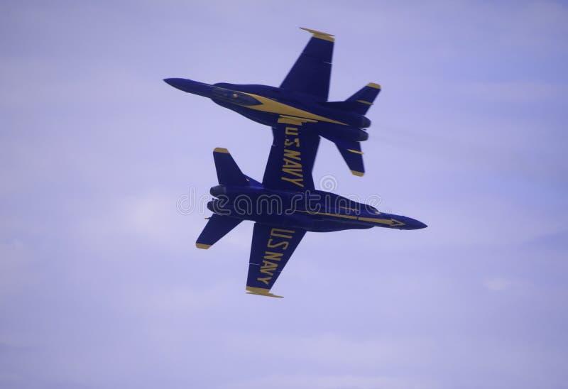 Blåa änglar på Kaneohe Airshow royaltyfria foton