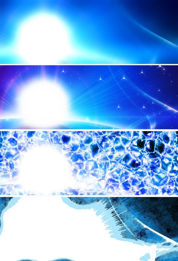 blåa abstrakt baner vektor illustrationer