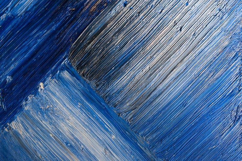 Blåa abstrakta penseldrag royaltyfria bilder