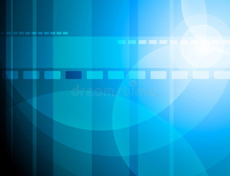 Blåa affärstechbeståndsdelar på blå lutningbakgrund stock illustrationer