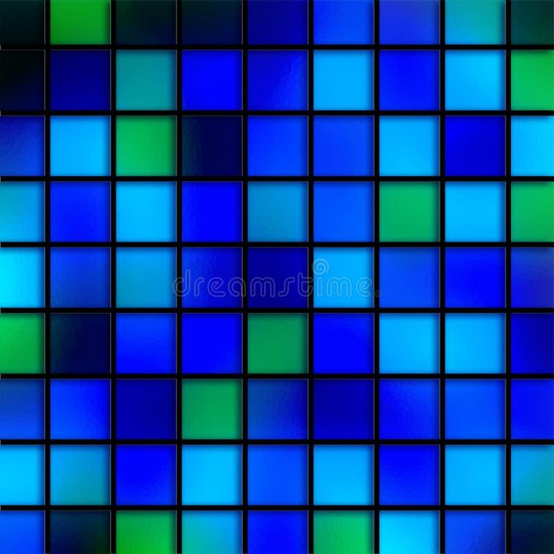 Blåa Aqua Tiles royaltyfri illustrationer