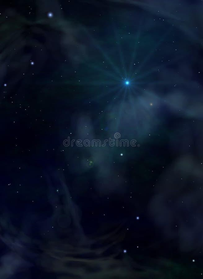 blåa avståndsstjärnor vektor illustrationer