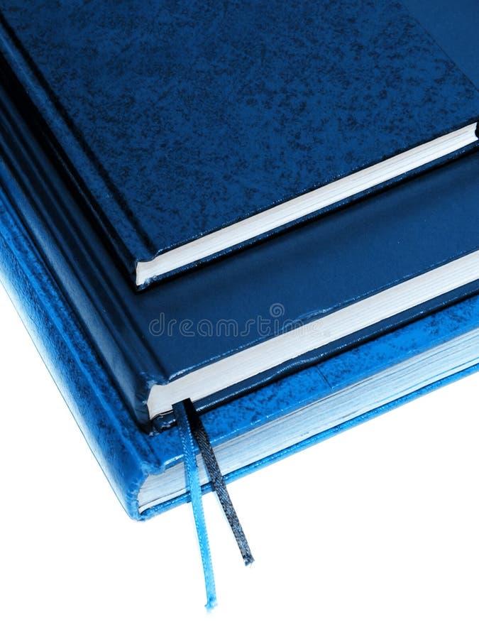 blåa böcker royaltyfria bilder