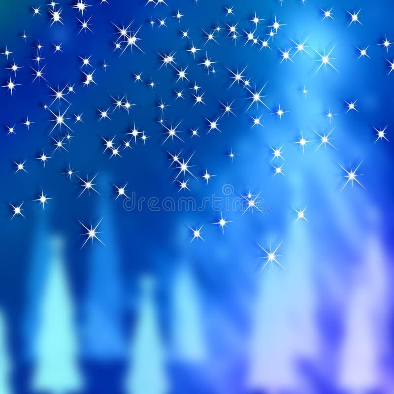Blåa bakgrunder nytt år och jul vektor illustrationer