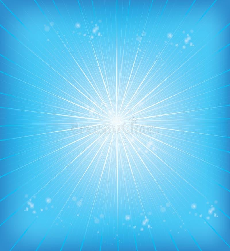 Blåa bakgrundsstrålar vektor illustrationer