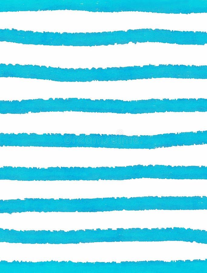Blåa band på vit bakgrund stock illustrationer