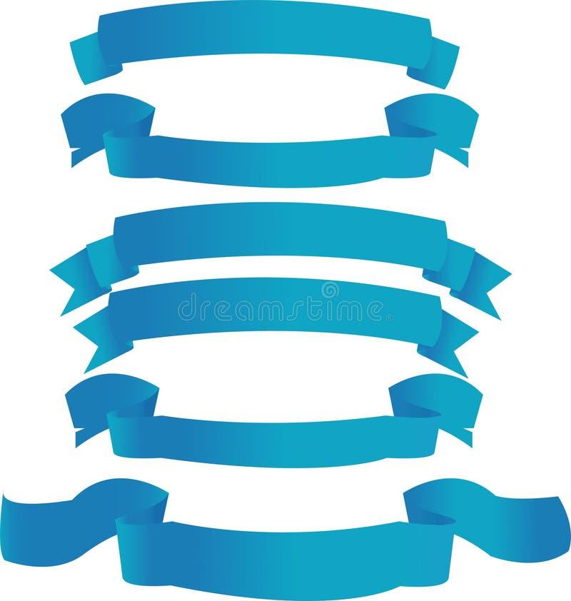 blåa baner royaltyfri illustrationer