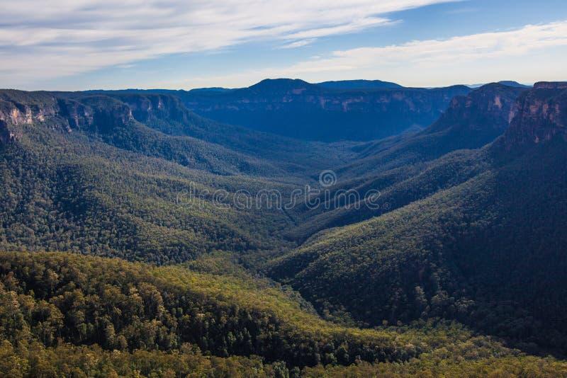 Blåa berg av Australien royaltyfria foton