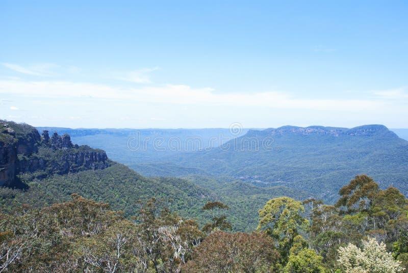 Blåa berg, NSW Australien royaltyfria foton