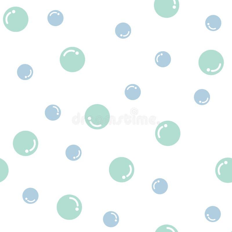 blåa bubblor royaltyfri illustrationer
