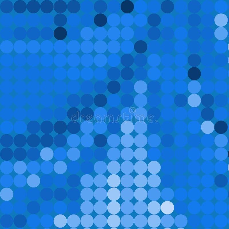 blåa cirklar royaltyfri illustrationer