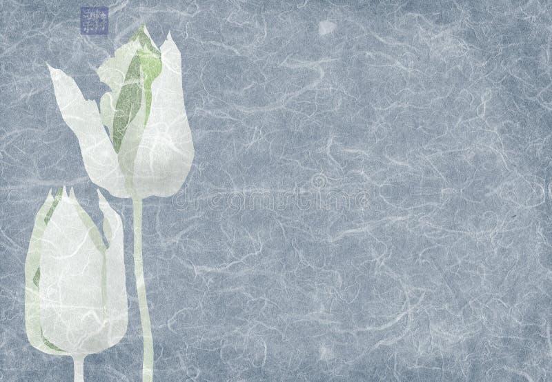 blåa collagetulpan royaltyfri illustrationer