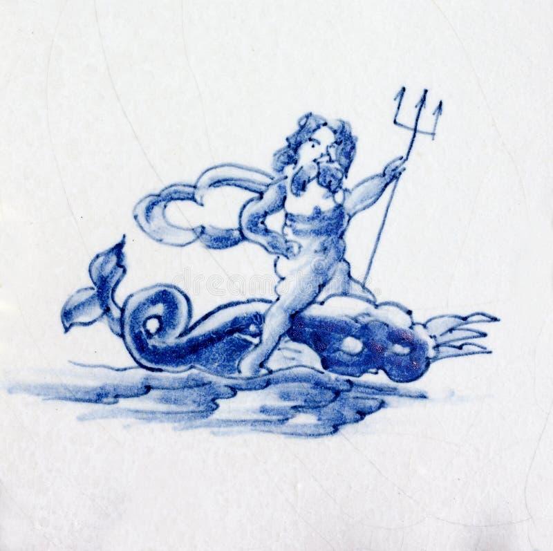 blåa delft arkivfoton